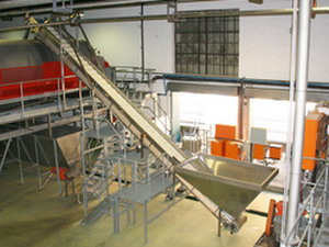 Flighted Incline Belt Conveyor