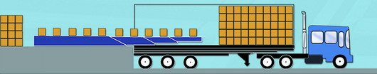 Truck loading & unloading illustration