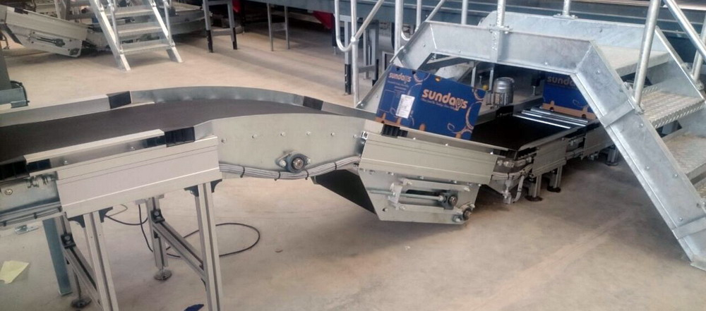 Incline Sliderbed Belt Conveyor